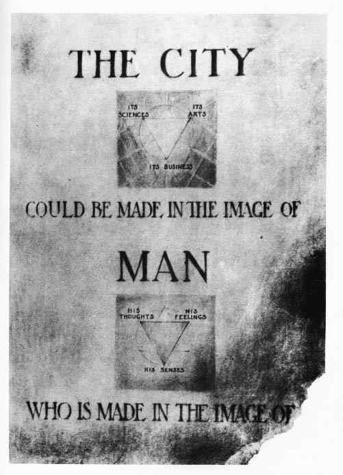 The city could be made in the image of man